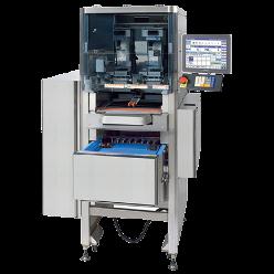 10.4 'renkli LCD dokunmatik panel. Otomatik Film değiştirme fonksiyonu. Çıkarılabilir ve yıkanabilir besleme masa ve asansörleri. Otomatik tabak tanımlama ve merkezleme özelliği. 35 adet/dakika paketleme hızı